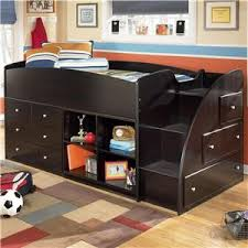 Ashley Childrens Bedroom Furniture by Embrace Twin Loft Bed With Right Storage Steps Bookcase U0026 Chest