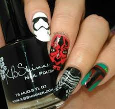 awaken the force with these 40 epic star wars nails star wars nails