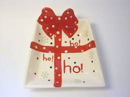 Christmas Present Table Decoration by Christmas Present Shaped Serving Dish Ceramic For Table Decoration