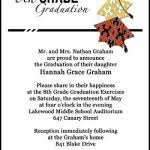8th grade graduation invitation wording graduate invites chic 8th