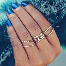 rings fashion gold images 17km fashion gold color x knuckle rings set for women vintage midi jpg
