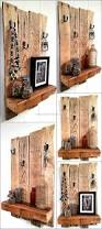 recycled wooden pallet shelf with rustic look wood pallet furniture