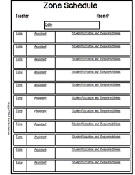 plan forms editable with schedule templates for special education