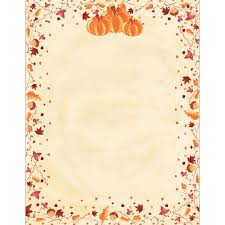 painted pumpkins autumn and thanksgiving printer paper your