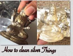 how to clean silver items at home by using aluminium foil