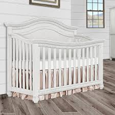 Top Convertible Cribs Evolur 5 In 1 Curved Top Convertible Crib Antique Grey