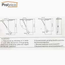aliexpress com buy probrico 2 pcs force gas spring 80n gsk5sy80