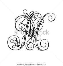 decorative letter n stock vector 364251122 shutterstock
