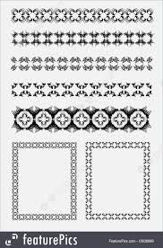 illustration of ornamental lines and frames