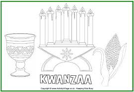 kwanzaa colouring page for kids