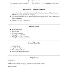 resume objective for freelance writer freelanceer resume sles velvet jobs resumesing cv exle