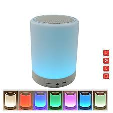 outdoor lights with bluetooth speakers pococina us bs001 indoor outdoor color changing tap light night