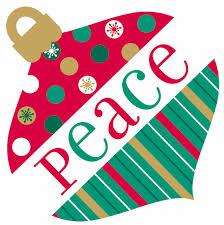 partystore colorful peace ornament cutout