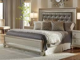 king platinum bling upholstered bed pkg the bedroom
