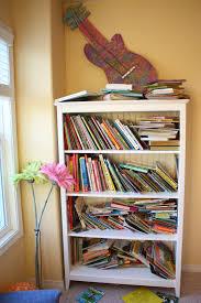 Bookshelf In Bedroom Organized Bookshelf U0026 Girls U0027 Room The Sunny Side Up Blog