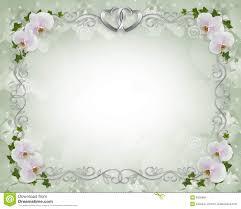 cadre photo mariage lierre d orchidées de cadre d invitation de mariage illustration