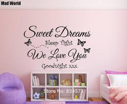 compare prices on sweet baby quotes online shopping buy low price mad world sweet dreams baby childrens quote wall art stickers wall decal home diy decoration