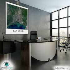 Map Of Thailand Cleveland Bangkok Thailand Satellite Map Print Aerial Image Poster