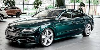 audi exclusive emerald green pearl s7 at audi forum neckarsulm