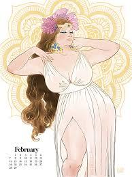 artist creates plus size pin up calendar to promote body