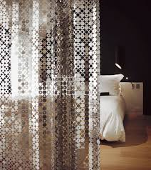 geometric curtain metal stainless steel bubble le labo design