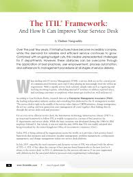 the itil framework itil information management