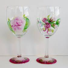 Beautiful Wine Glasses Danelle U0027s Designs Wine Glasses