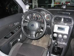 subaru car interior 2005 2007 subaru impreza wrx sti real carbon fiber dash trim kit
