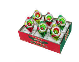christopher radko holiday splendor 6 piece shapes with refelectors