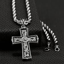 mens necklace with cross images Western jewelry for men cattle kate jpg