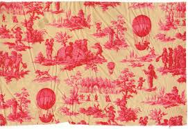 texile fabric toile de jouy balloon print national air and
