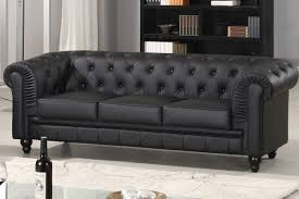 canapes chesterfield canapé chesterfield 3 places cuir pu côtécosy