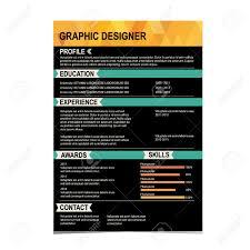 Resume Background Image Resume Template Cv Creative Background Vector Illustration
