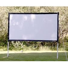 Backyard Screens Outdoor by Portable Outdoor Movie Theater Projection Screen Wifey Stuff