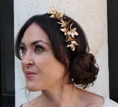 gold headpiece gold headpiece velvet headband headdress with gold hair