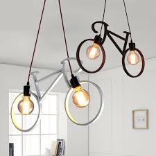 modern black light fixtures modern bicycle pendant light children room pendant l black white