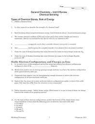unit 6 review general chemistry chemical bonding