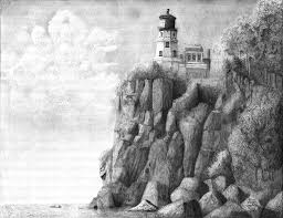 pencil drawings of lighthouses fine art pencil drawings pencil