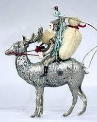 dresden man riding camel christmas ornament antique holiday