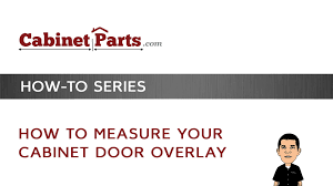 measure your cabinet door overlay youtube