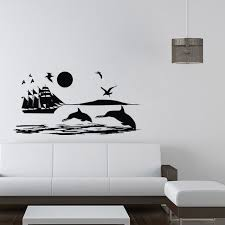 dolphin home decor sea scene wall stickers ship dolphin home decor living room sofa