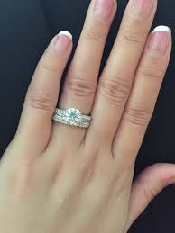 what to do with wedding ring what wedding ring do you wear with your pavé or shared prong band