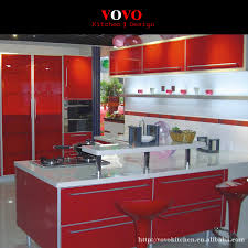 Popular Kitchen Cabinets MdfBuy Cheap Kitchen Cabinets Mdf Lots - Red lacquer kitchen cabinets