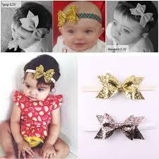 pretty headbands 1pc newborn flower bow glitter elastic headband for pretty
