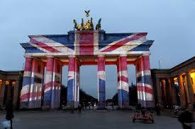 London Flag Brandenburger Tor Mit Union Flag Feine Fotografie