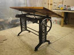 Custom Drafting Tables Custom Made Industrial Drafting Desk With Reclaimed Wood Top