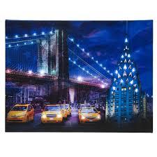 new york city canvas ebay led lighted up new york city chrysler building brooklyn bridge canvas wall art