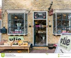 facade organic food shop holland editorial stock image image