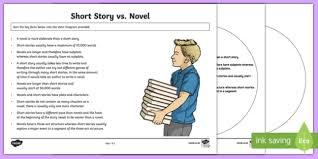 story vs novel venn diagram activity sheet worksheet