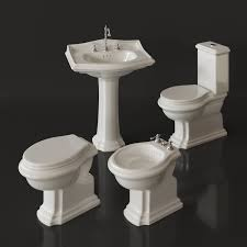 Bidet Sink Nero Ceramica Revo Toilet Bidet Washbasin 3d Model Max Fbx